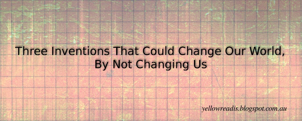 Three Inventions That Could Change the World by Not Changing Us, yellowreadis.com Image: Blue grid on red background