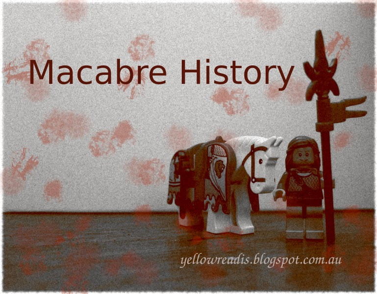 Macabre History, yellowreadis.com Image: Lego horse and pikeman
