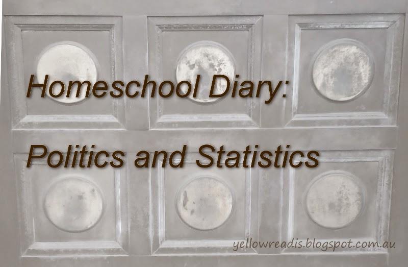 Homeschool Diary, Politics and Statistics, yellowreadis.com, Image: Brass Door