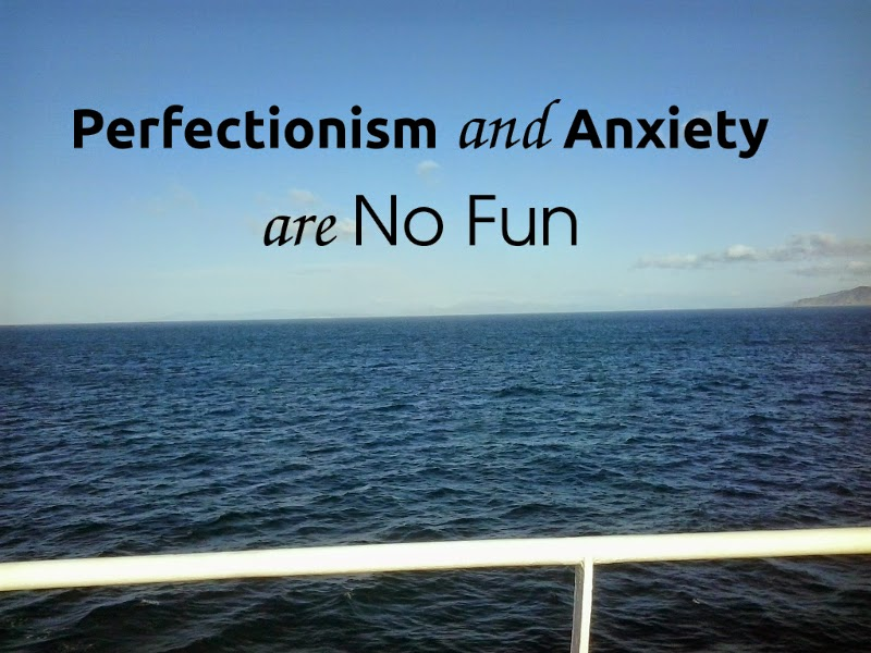 Perfectionism and Anxiety are No Fun, yellowreadis.com Image: Ocean, blue sky and a white railing