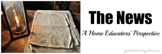 The News, A Home Educators Perspective, yellowreadis.com Image A lamp and an old newspaper