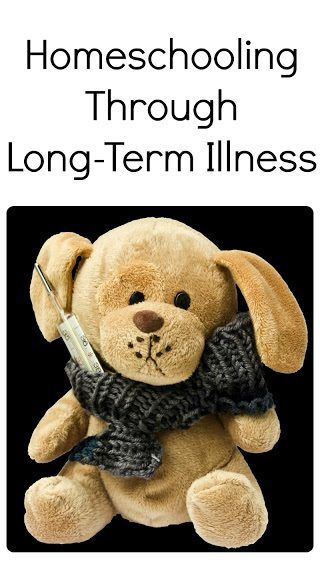 Homeschooling Through Long-Term Illness | yellowreadis.com. Image: Brown toy dog with grey scarf and syringe.