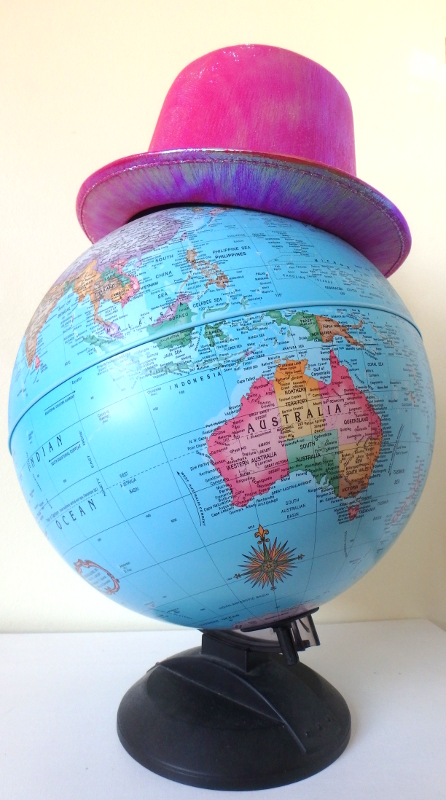 Image: Globe with Pink Hat