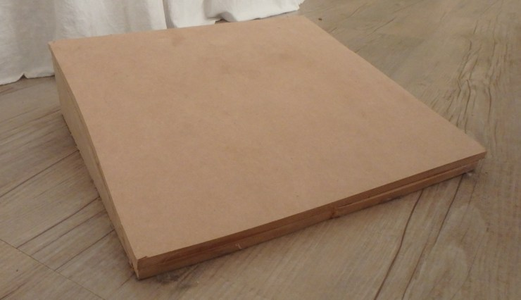 MDF Slant Board on wooden floor