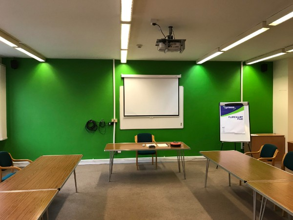 A recently redecorated meeting room