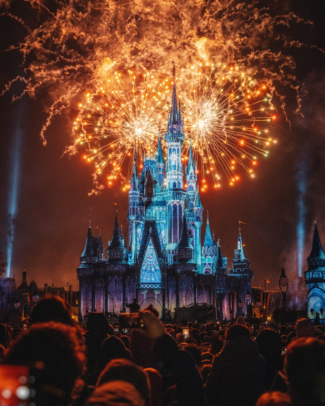 photo of fireworks display during evening