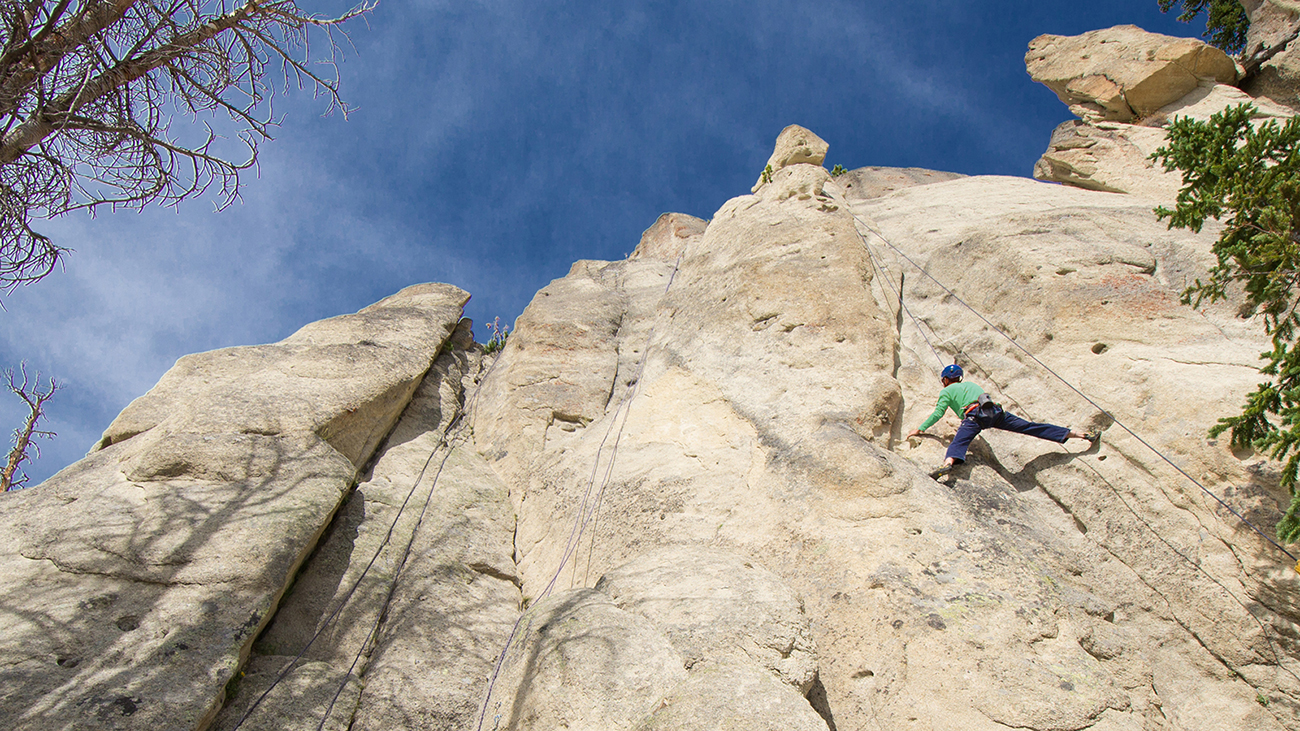 YC offers two experiences for rock climbers based on their experience level.