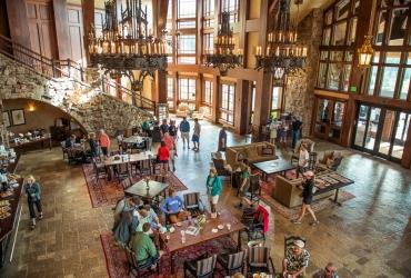 Lakeside Lobby in Warren Miller Lodge.