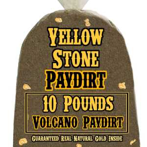 10 Pounds of VOLCANO (Pickers!) Gold-Rich Unsearched Paydirt Concentrate from YELLOWSTONE PAYDIRT
