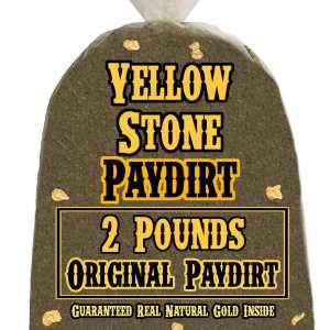 2 Pounds of ORIGINAL (Great Gold!) Gold-Rich Unsearched Paydirt Concentrate from YELLOWSTONE PAYDIRT