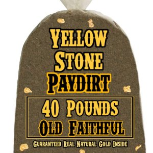 40 Pounds of OLD FAITHFUL (More Gold!) Gold-Rich Unsearched Paydirt Concentrate from YELLOWSTONE PAYDIRT