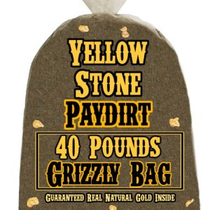 40 Pounds of GRIZZLY BAG (Big Nuggets, Our Richest Pay!) Gold-Rich Unsearched Paydirt Concentrate from YELLOWSTONE PAYDIRT