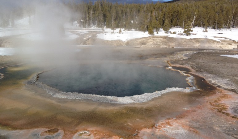 Visit Old Faithful in Winter