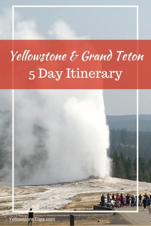 What to see and where to stay in Yellowstone and Grand Teton in 5 days. See the best of these two National Parks with this five day itinerary. 5 day Teton and Yellowstone road trip itinerary #yellowstone #grandteton | Yellowstone Grand Teton itinerary | Yellowstone National Park itinerary | Grant Teton National Park itinerary