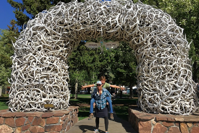 antler arch in jackson wyoming - best instagram spots in Jackson