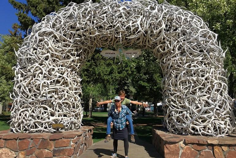 antler arch in jackson wyoming - best instagram spots in Jackson