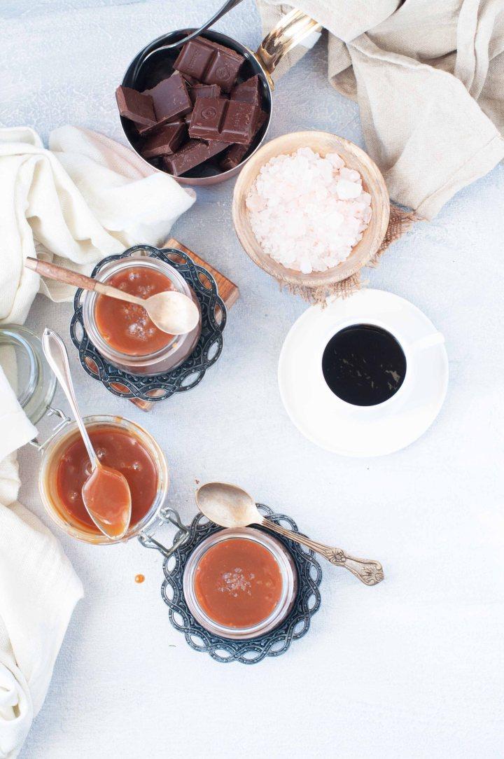 Chocolate Caramel Pots