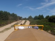 To get to Cabo Polonia, you are taken by truck out across the protected dunes