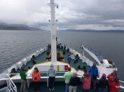 Sailing down the Beagle Channel on a typical grey, overcast evening