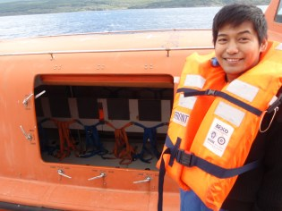 These lifeboat pods are supposed to hold 60 people each - let's hope we don't need them!