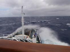 Slightly rougher seas for the return journey
