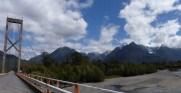 The dramatic road east towards the Argentine border at Futaleufu