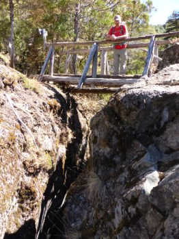 The tiny gap at the top of the Canyon Azul….