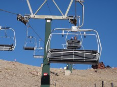Heading out for our next trip up into the Co. Catedral range, this time by ski-lift