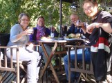 We had a surprisingly sociable time in Bariloche. Here we are catching up with fellow overlanders JP and Hannie who we met on the ship to Antarctica