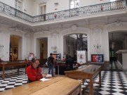 In the lovely old central Post Office sending a package home