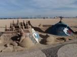 Sand sculptures along Copacabama beach