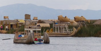 The traditional reed boats are really just for the tourists these days