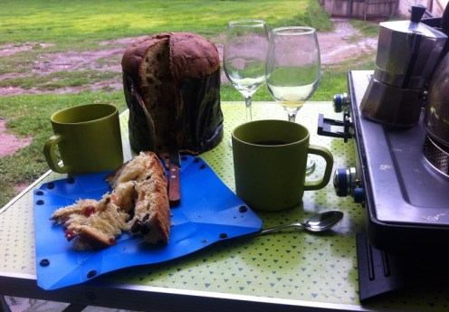 Champagne, panettone and good coffee