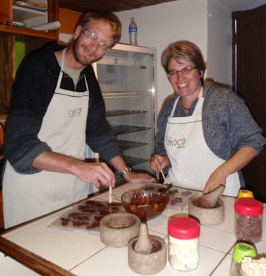 Making our chocolates