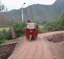 Tuk tuks ply the road up and down the Sacred Valley