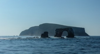Leaving the Arch behind us after a couple of days of fantastic diving
