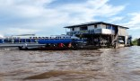 Arrival in Santa Rosa (Peru side), at a dock cut off by the flooded river