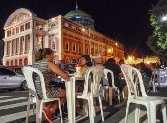 Nightlife outside the theatre