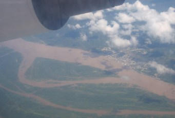 Great views of the meandering rivers as we flew out of the region