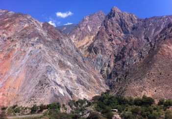 We emerged into the beautiful valley of Huaraz next to the High Andes mountain range of the Cordillera Blanca