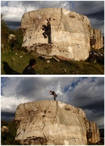 Meanwhile, back in Peru, Bruce found some people to climb with