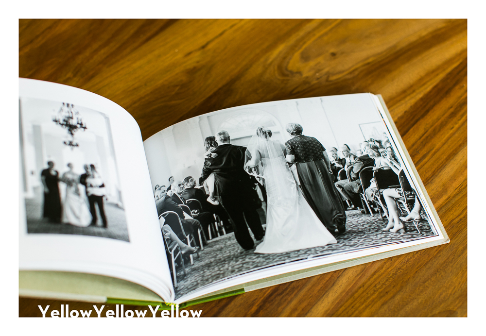 Modern Handmade Wedding Album