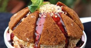 Bal Kabaklı ve Karamel Soslu Yanardağ Pasta