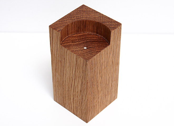 Wooden Tealight Holder Base Tall