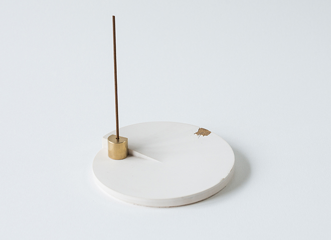 white tray incense small