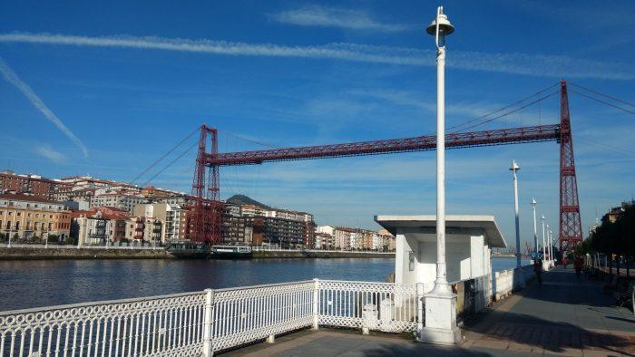 Puente de Bizkaia desde Getxo