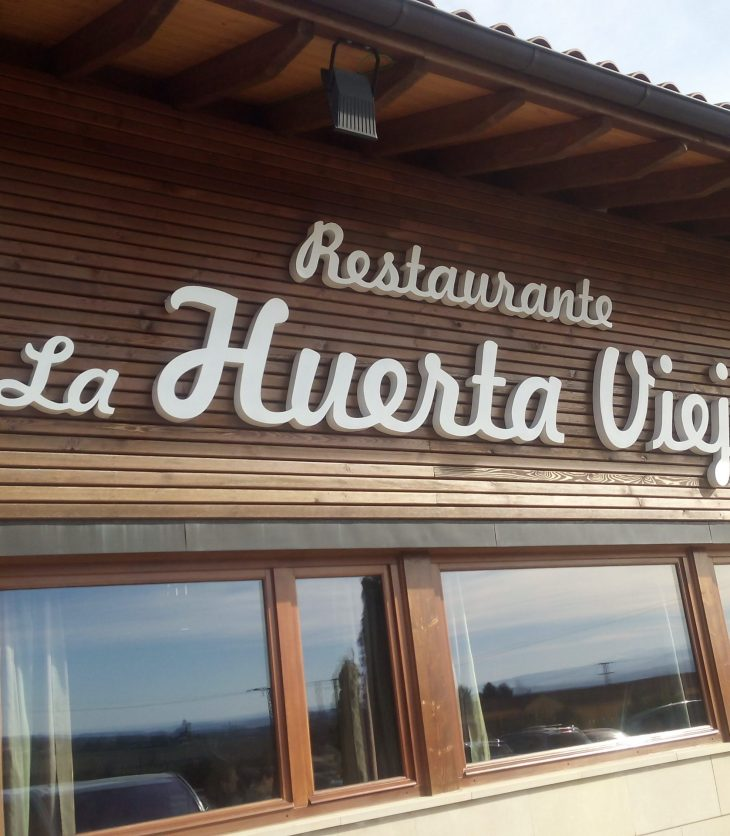 Fachada del restaurante La Huerta Vieja