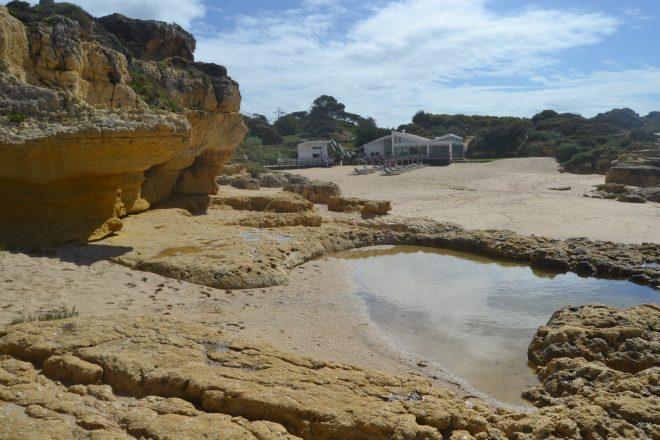 Plataformas rocosas de Praia Evaristo