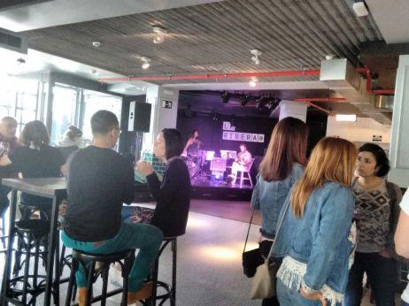 Actuación en directo en La Ribera