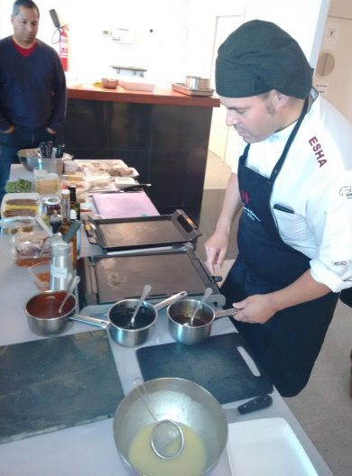 Igor Ozamiz en la cocina